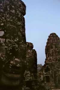 Bayon carved faces