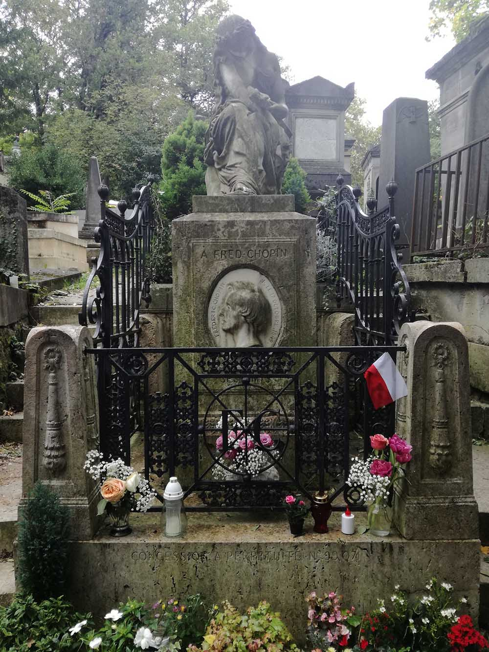Chopin's grave