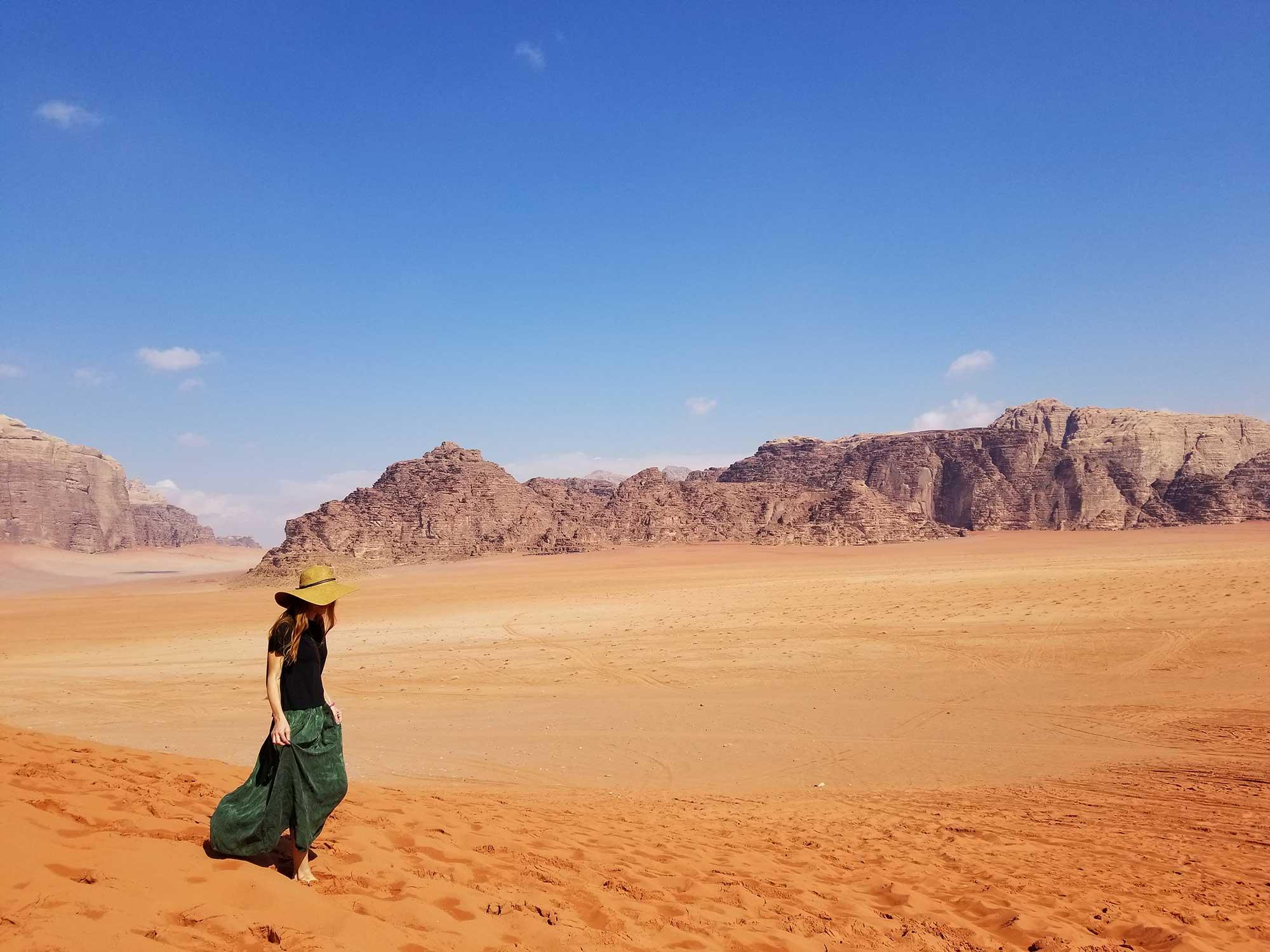 Пясъчните дюни в Уади Рум