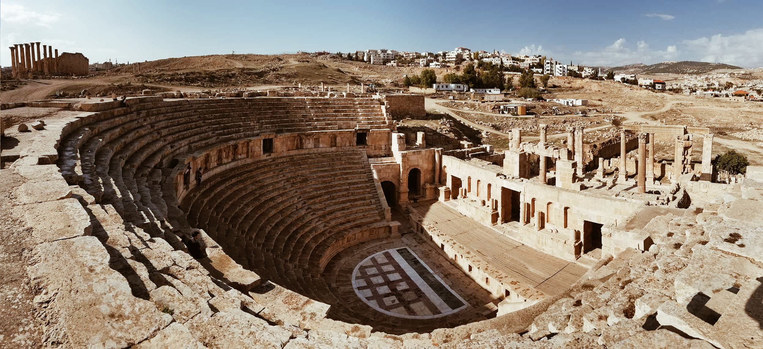 античен театър, гераса, джераш