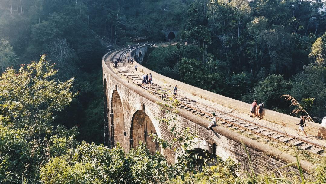 nine arch bridge, ella. railway